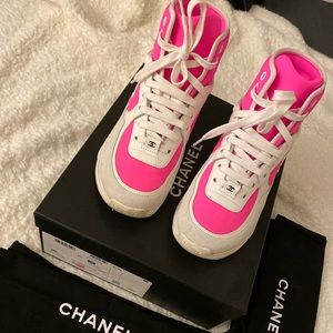 CHANEL Shoes - Authentic CHANEL Sneakers Hot Pink Size 36